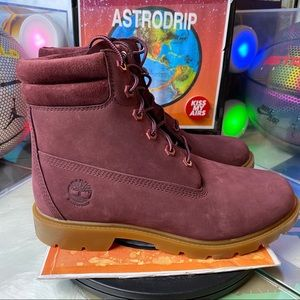 🆕 Timberland Burgundy Boots - Size: Wmns 8.5